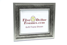 "80671 2.25"" Modern Crosshatch Silver Picture Frame"