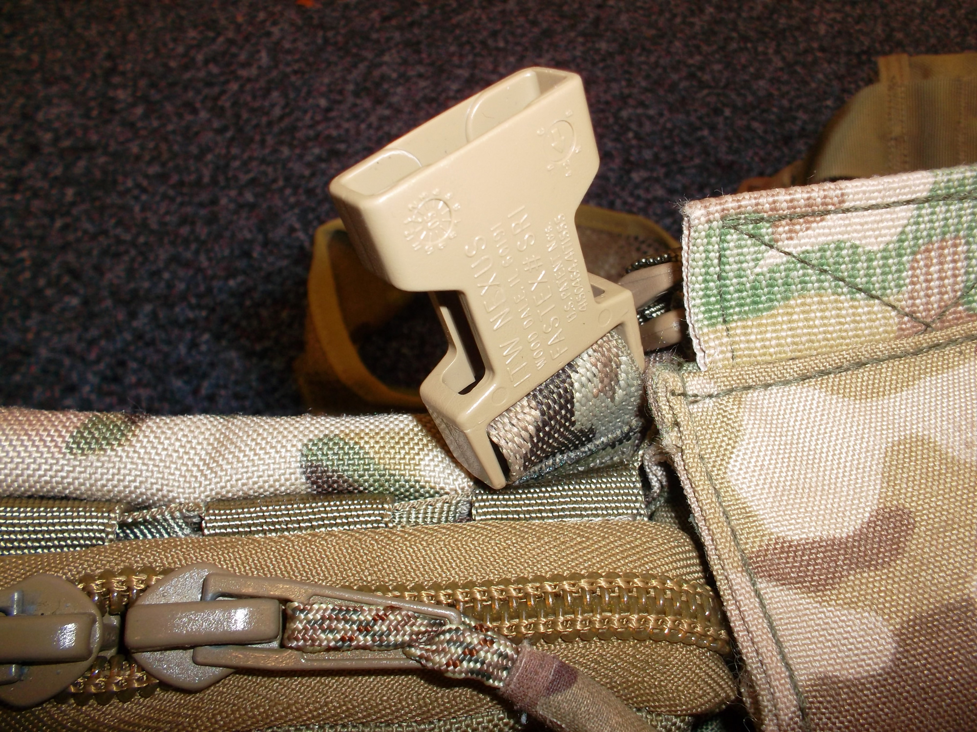 Close up of Molle T Mount with FR SRB