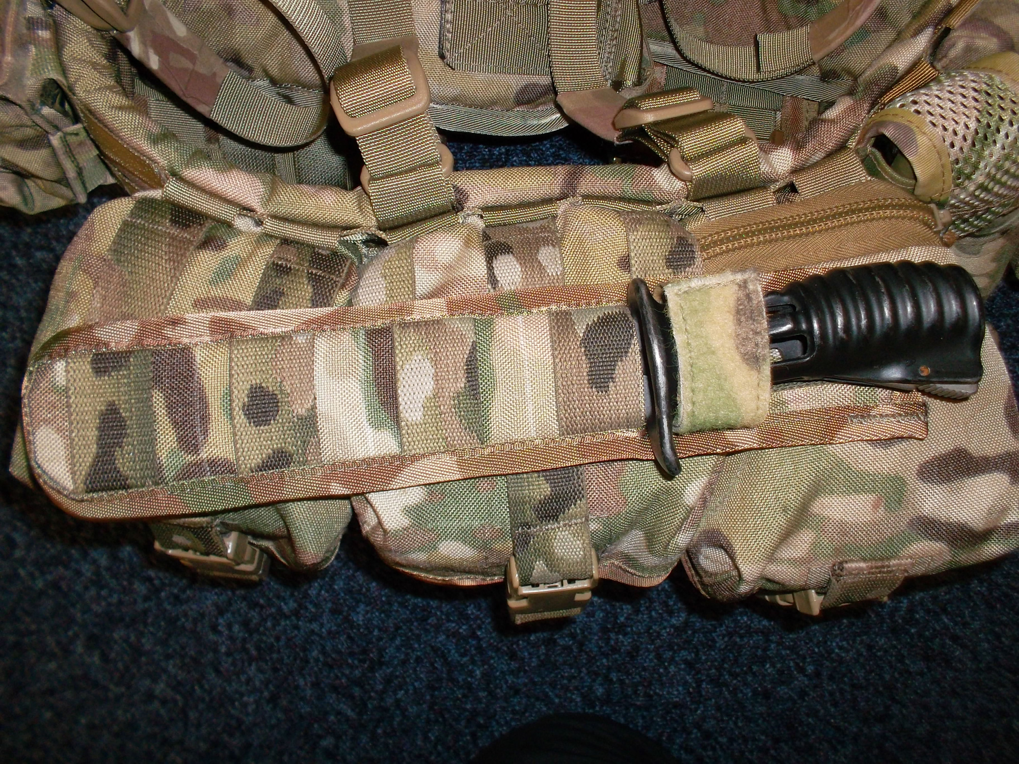 Sheath on top of pouches again.