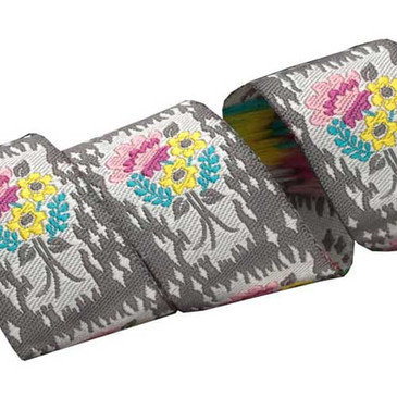 Grey Handpicked Floral by Anna Maria Horner - 7/8""