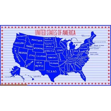 "Stars & Stripes: USA Map (23.75"" panel)"