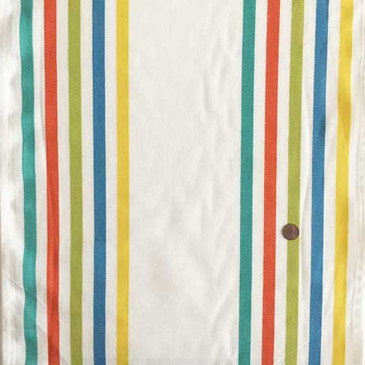 "Fiesta Border Stripe 16"" Toweling (Salsa)"