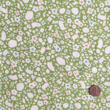 Yuwa Cotorienne Sunnyland - Fresh Green (double gauze)