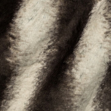 Tissavel - Faux Fur in Volga Chinchilla in Beige Walnut (1/2 yard)