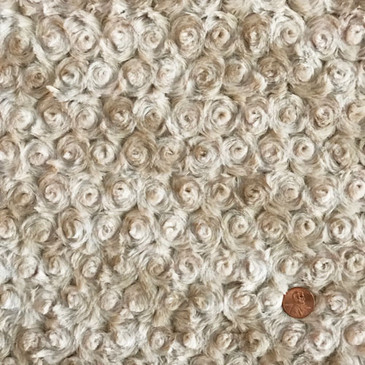 Shannon Fabrics - Marble Rose Cuddle in Sand Ivory (1/2 yard)