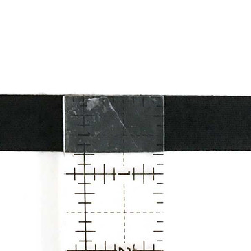 Jersey KNIT Single Fold 18 mm Bias Tape - Black