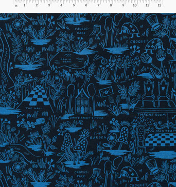 Wonderland by Rifle Paper: Magic Forest Navy (CANVAS)