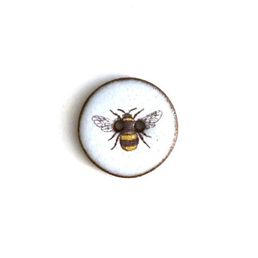 Bumble Bee Ceramic Button -  11/16""