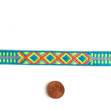 "Neon Friendship Bracelet Trim 9/16"""