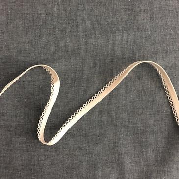 Double Fold Crochet Edge Bias Tape -  Solid Muslin