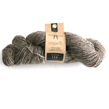 Garthenor No 4 - Aran (Organic Jacob in Fossil Grey) - 100g