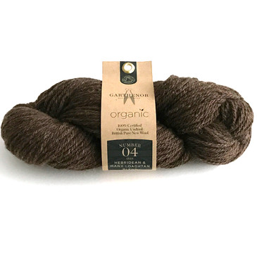 Garthenor No 4 - Aran (Hebridean & Manx Loaghtan in Cocoa Brown) - 100g
