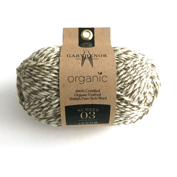 Garthenor No 3 - DK (Jacob in Brown White Marl) - 50g