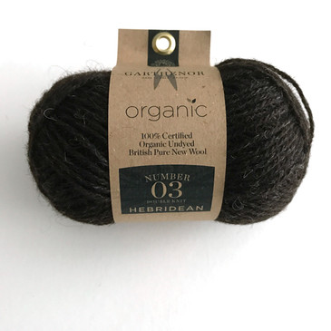 Garthenor No 3 - DK (Hebridean & Manx Loaghtan in Dark Brown) - 50g