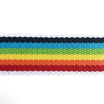"""Rainbow Webbing (4 cm or 1 5/8"""")"""