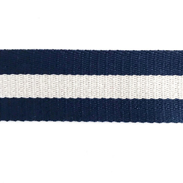 "Navy with Tan Stripe Webbing (38mm or 1.5"")"