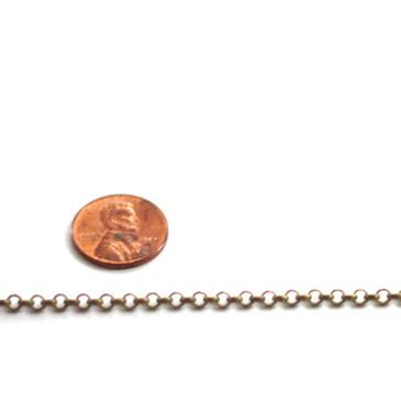 Antique Bronze Rolo Chain (3mm)