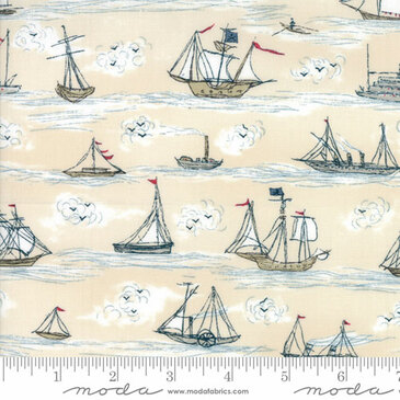 Moda - Ahoy Me Hearties - Busy Seas (Multi)