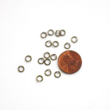Antique Bronze Jump Rings (5mm)