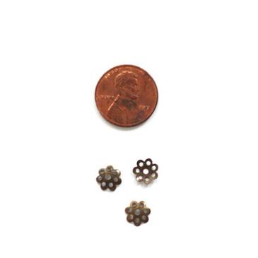 Antique Bronze Bead Caps (8mm)