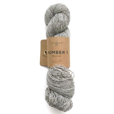 Garthenor No 1 - Laceweight (Organic Shetland in Shale) - 50g
