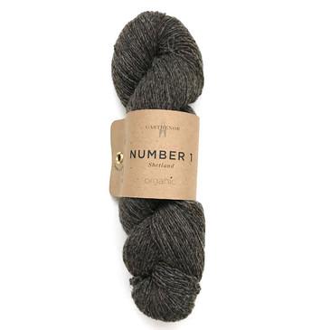 Garthenor No 1 - Laceweight (Organic Shetland in Charcoal) - 50g