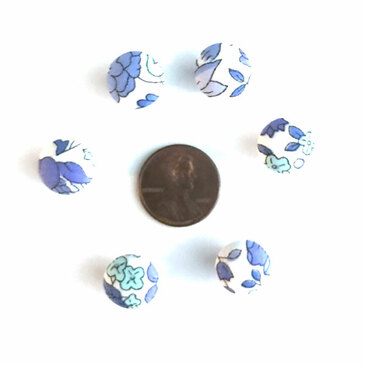 "Liberty D'Anjo Light Blue Button - 12 mm (~1/2"") - Exclusive!"