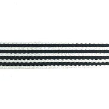 """1.5"""" Skinny Stripe Webbing (Black)"""