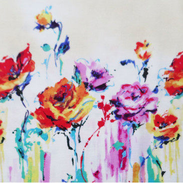 Lecien:  Artistic Cotton Collection - Floral Oil Painting (Oxford)
