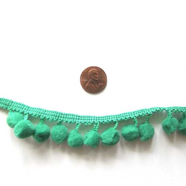 "Pom Pom Trim (Various Colors) - 1/2"" diameter"