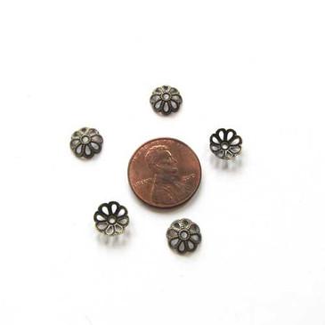 Filigree Antique Bronze Bead Caps (8mm)