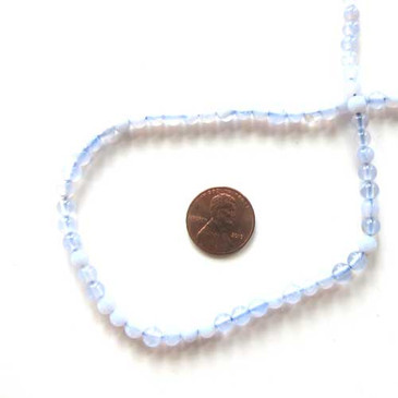 "Natural Stone Light Blue (4-5mm) 16"" strand"