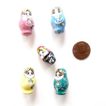 Matryoshka Porcelain Bead
