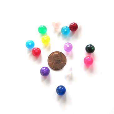Round Candy Coloured Cat's Eye Beads (10mm)