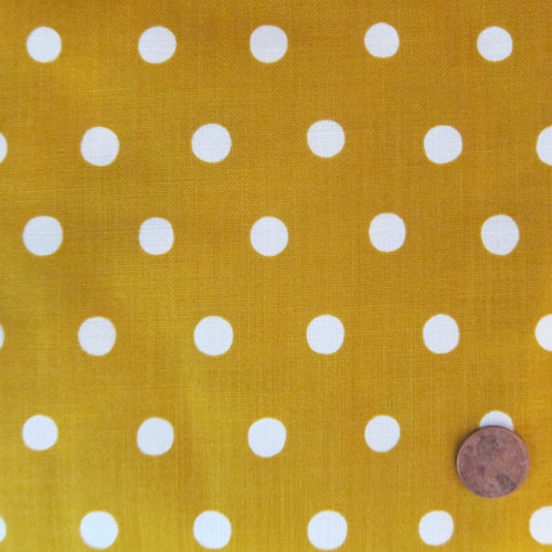 Natural White Dots on Mustard Yellow