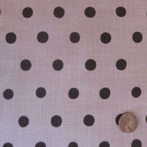 Mocha Dots on Rose