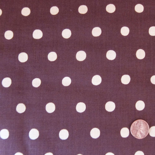 Warm Beige Dots on Mocha Brown