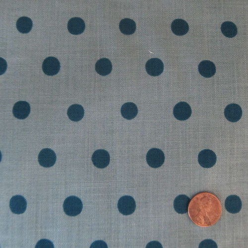 Teal Dots on Steel Blue