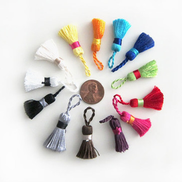 "Mini Tassels 7/8""(various colours)"