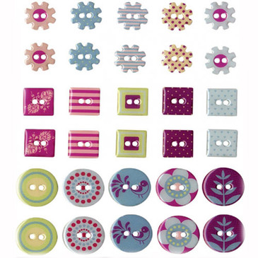 Mid Century Modern Scrapbooking Buttons