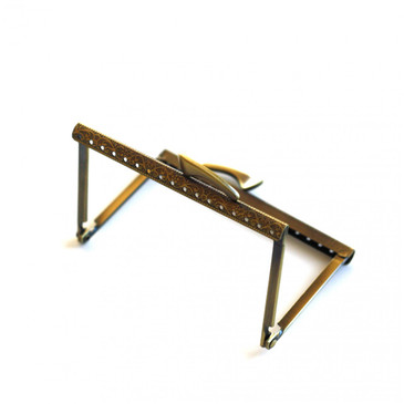 """Antiqued Gold Purse Frame - 4 1/8"""""""