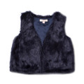 Fox & Finch Tara Fur Vest - Navy