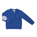 Fox & Finch Dean V-Neck Jumper - Cobalt