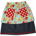 Oobi Sally Retro Blue Pear Skirt