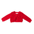 Bebe Maple Long Sleeve Cardi with Fringing