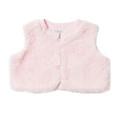 Bebe Iris Cropped Fur Vest