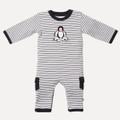 Bebe Ralph Stripe Penguin Romper