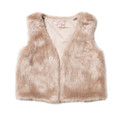 Fox & Finch Faith Fur Vest - Almond - (2-6)