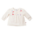Bebe Maddy Longsleeve Necklace Tee