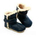 Skeanie Leather SNUG Boots - Navy